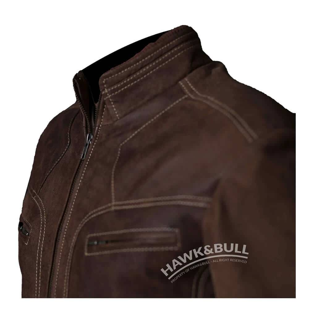 mens vintage brown leather jacket