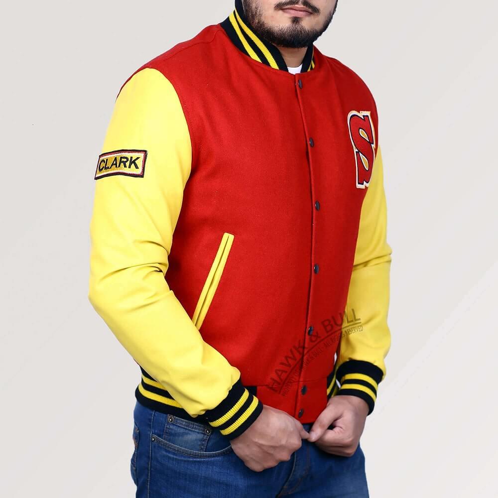 superman letterman jacket