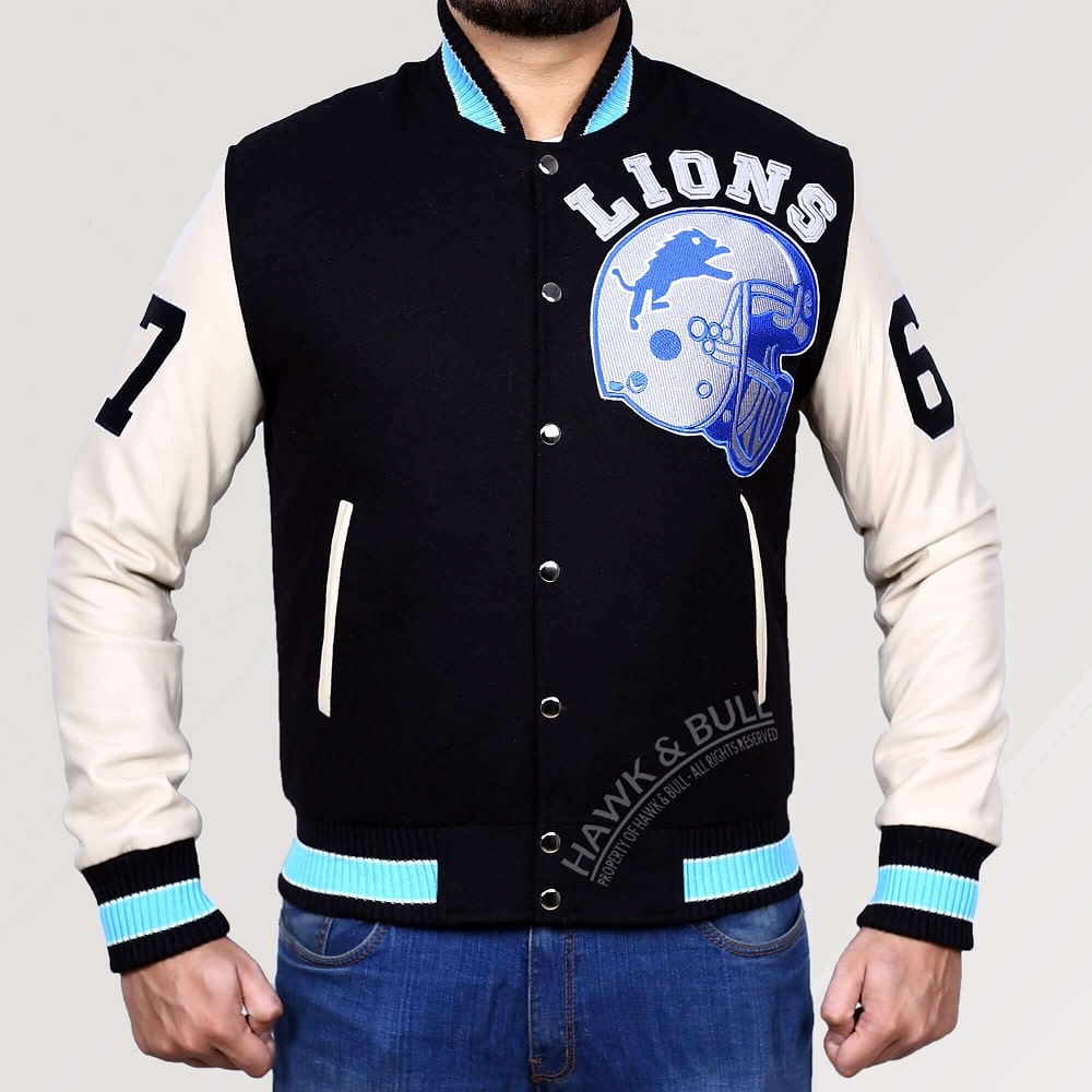 detroit lions jacket beverly hills cop front side