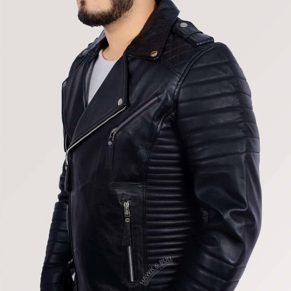 kay michaels quilted biker jacket