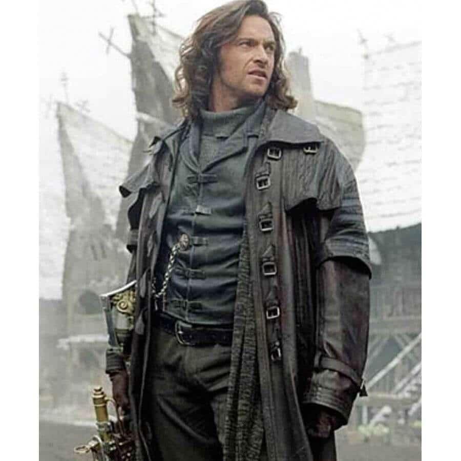 van helsing leather trench coat movie scene