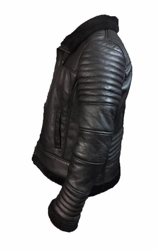 black aviator jacket right side