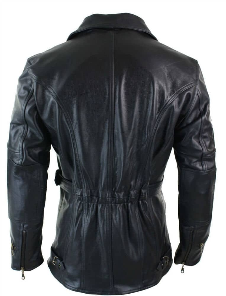 leather motorcycle coats back side