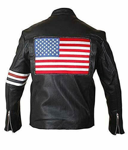 peter fonda easy rider jacket back side