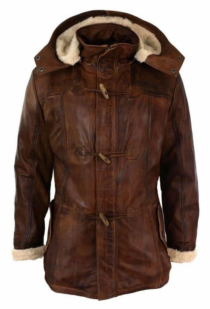 long brown faux fur coat